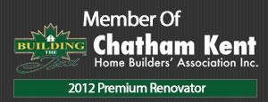 Al-Mar Home Improvements Member of Chatham Kent Home Builders' Association 2012 Premium Renovator